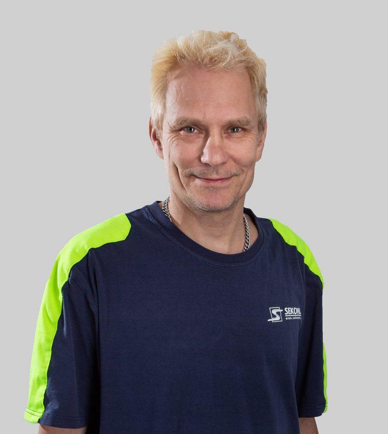 Christian Mattsson är elektriker och arbetar med Elservice på Sekond