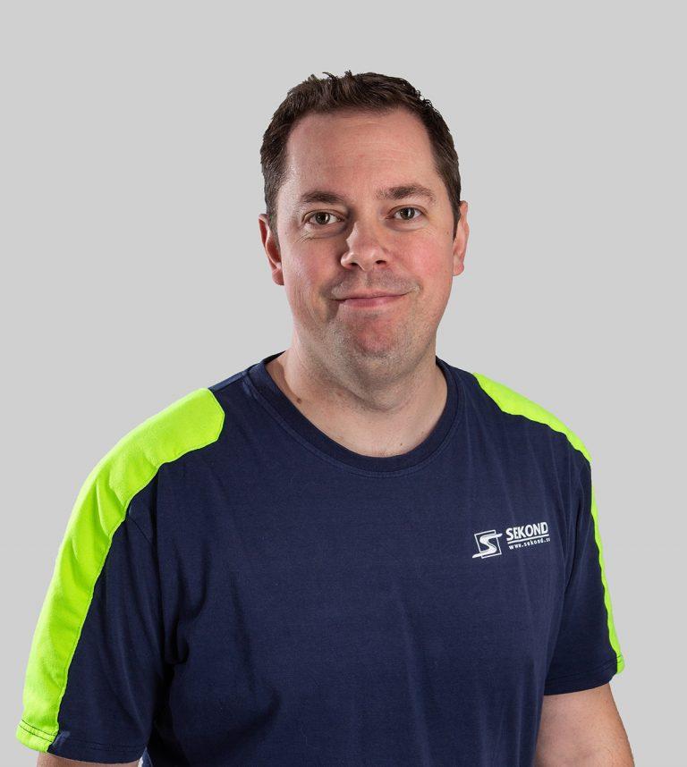 Jerry Grimling är elektriker och arbetsledare på Sekond