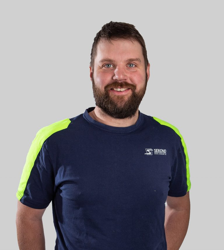 Marcus Ericsson är elektriker och arbetar med Elservice på Sekond