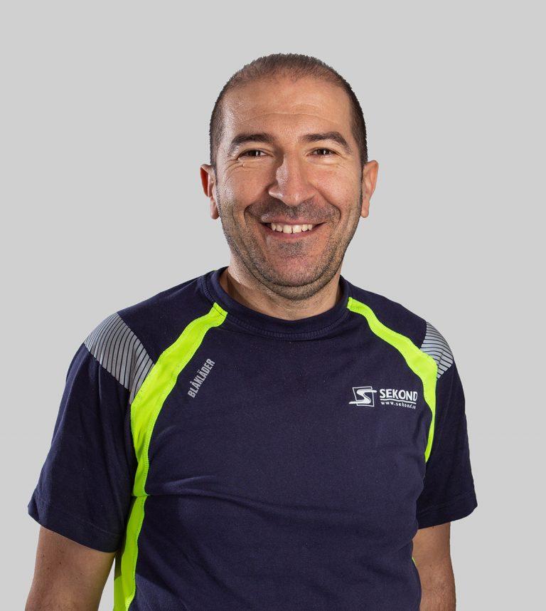 Vjekoslav Kustura är elektriker och arbetar med Elservice på Sekond